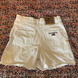 Vintage Polo RL White Denim Shorts